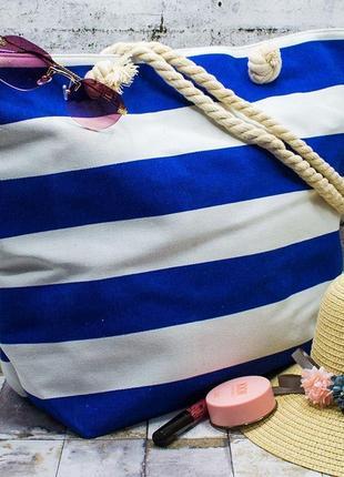 """Пляжная сумка """"white stripes"""" 36*49*14"""