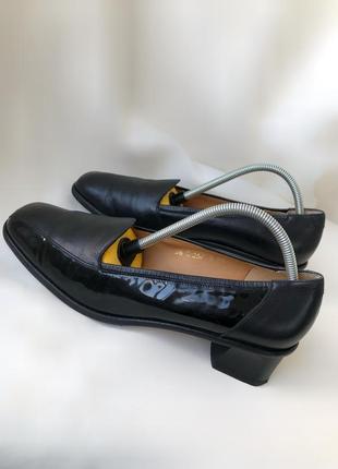 Винтажные кожаные туфли schneider швейцария