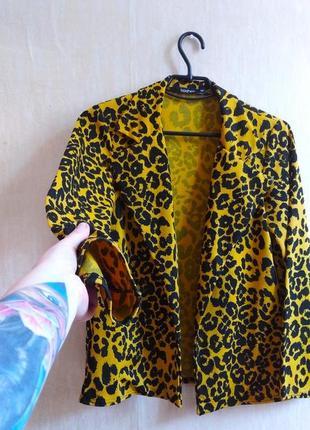 Жакет піджак тигрой леопардовий стильный пиджак жакет бохо