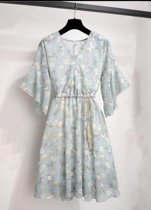 Платье шифон в цветочный принт