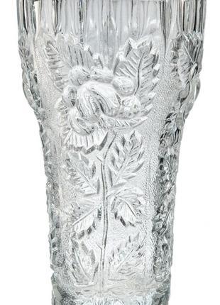 Ваза для цветов с декором в виде розы стекло ссср