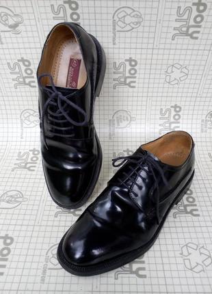 Royal class туфли дерби premium line  черная лаковая кожа 42 р