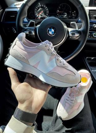 New balance nb 327 pink white кроссовки нью баланс наложенный платёж купить