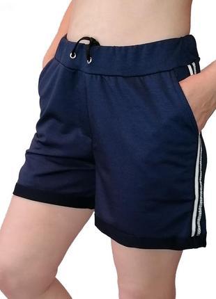 Женские шорты двухнитка. трикотажные женские шорты с карманами размер  xl