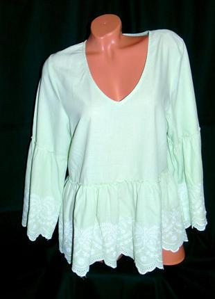 Шикарная блуза мятного цвета - l - xl