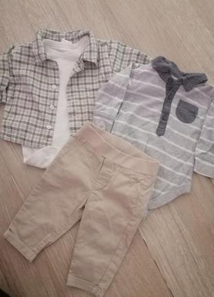 Набор комплект штаны бодик бодики рубашка