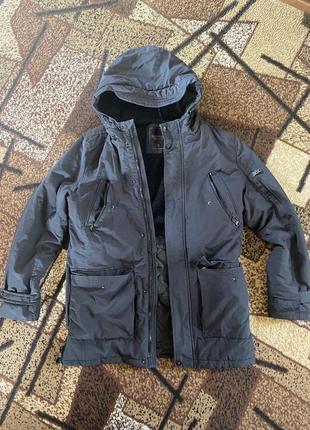 Зимняя куртка непродуваемая ветровка тёплая унисекс