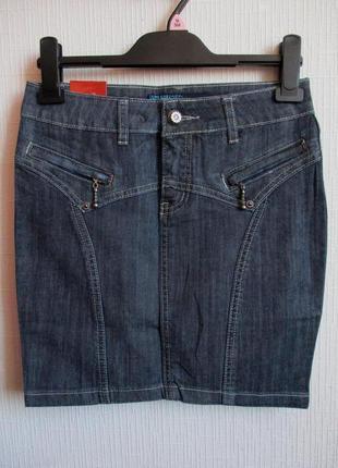 Sale -50%! джинсовая юбка с вышивкой