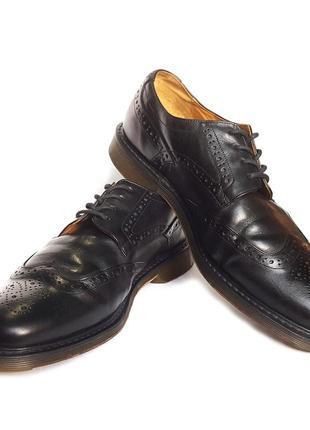 Стильные туфли броги dr. martens brogue made in poland
