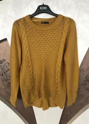 Очень тёплый горчичный свитер oodji, размера m-s  oodji