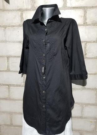 Легкая удлиненная блуза рубашка туника