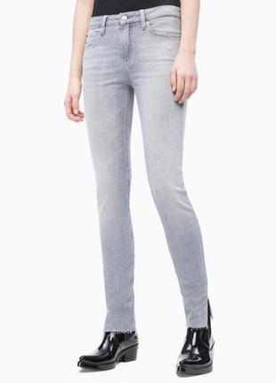 Calvin klein джинсы скинни ckj 011 mid rise skinny ankle jeans