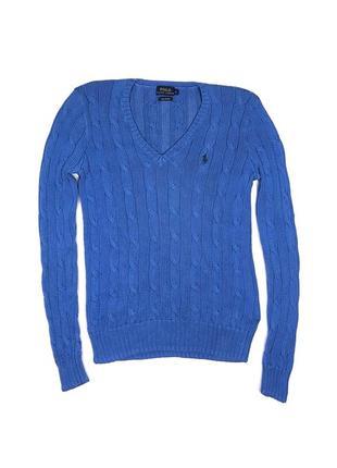 Polo ralph lauren s свитер джемпер вязка синий голубой