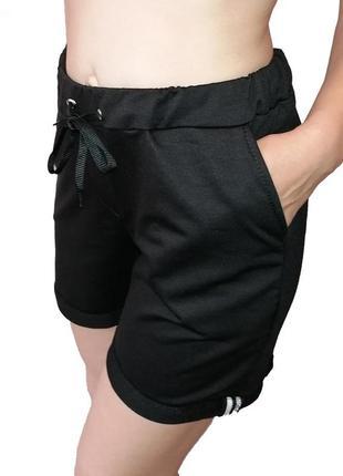 Женские шорты двухнитка. трикотажные женские шорты с карманами