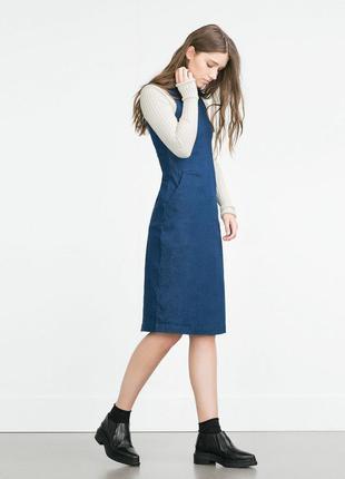 Zara платье сарафан джинсовое xs-s