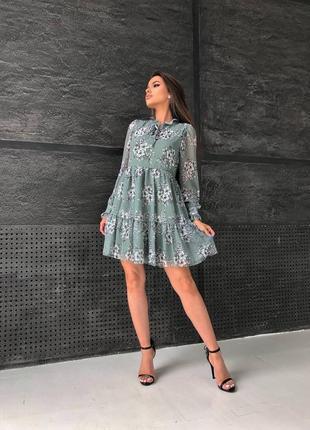 Платье с цветочным принтом 🌷
