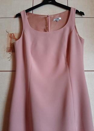 Базвое пудрово-розовое платье футляр от yokko