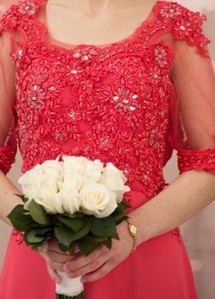 Шикарное выпускное вечернее платье