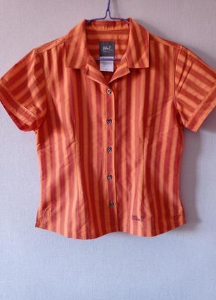 Рубашка женская jack wolfskin travel m l , туристическая , трекинговая