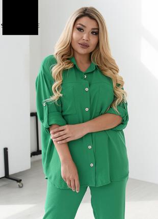 Костюм женский стильный легкий яркий брючный размеры: 48-58