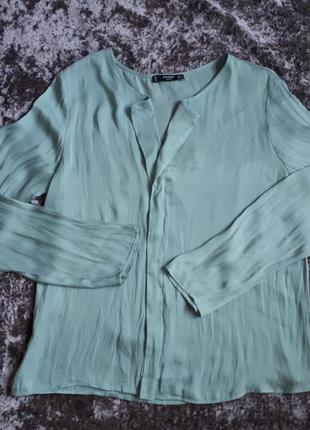 Мятная блуза mango