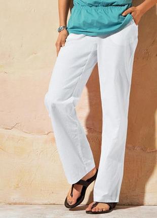 Стильные брюки в стиле чино (55 % лен +45 % хлопок ) от tchibo (германия ), р.44 евро=50-52