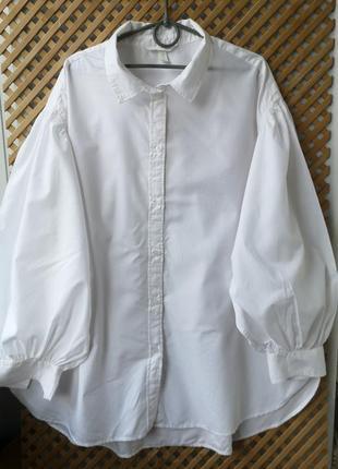 Белая хлопковая рубашечка