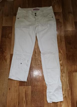 Белые брюки, джинсы, размер 29