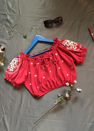 Topshop топ, блузка, блузка топ с вышивкой