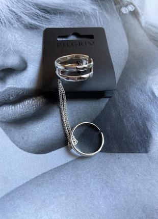 Кольцо посеребрённое pilgrim