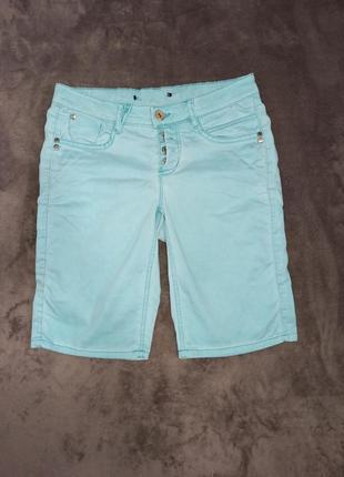 Шорты бриджи джинсовые на мальчика 12-14 лет