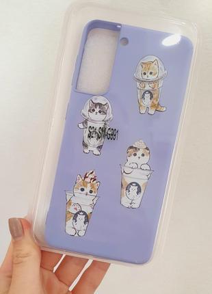 Чехол silicone case full для samsung s21