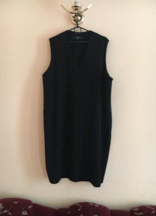 Батал большой размер стильное чёрное платье платьице плаття сукня