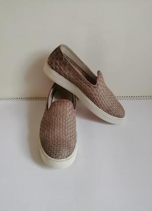 Кожаные туфли лоферы мокасины santoni