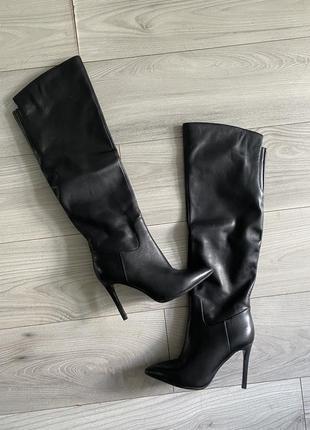 Идеальные кожаные высокие сапоги vitto rossi 38 размер