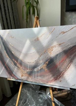"""Интерьерная картина, ручная работа, абстрактная живопись. картина """"wind"""""""