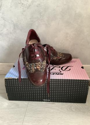 Кожаные туфли clarks оксфорды броги размер 39