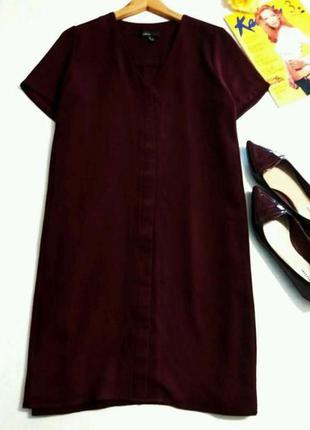 Платье рубашка mango цвет марсала