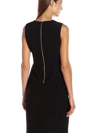 Классическое чёрное платье миди