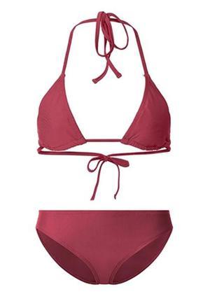 Бордовый купальник бикини на завязках, l 40 euro, (наш 46), esmara, германия