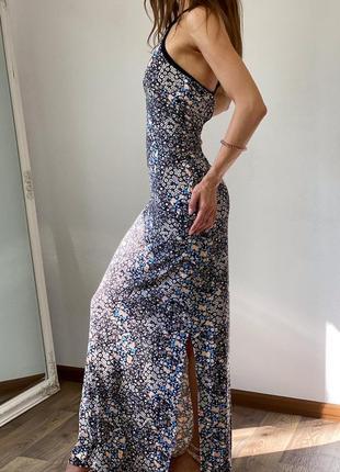 Платье в пол с кружевом на спине miss selfridge