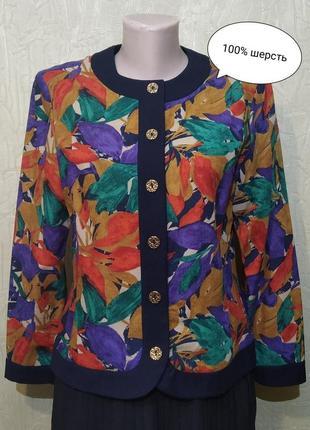 Devernois. шерстяной винтажный кардиган, бомбер, блуза, франция.