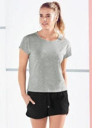Женская спортивная футболка серая crivit германия р. 42-44, 46-48