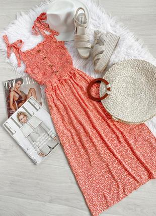 🌿крутое платье в ромашках с завязками от next