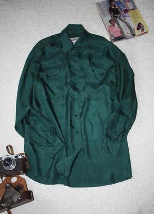 Шелковая красивая рубашка - туника . свободная рубашка шелк chicoree