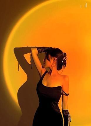 Проекционная лампа sunset lamp с эффектом заката / рассвета, желтый закат