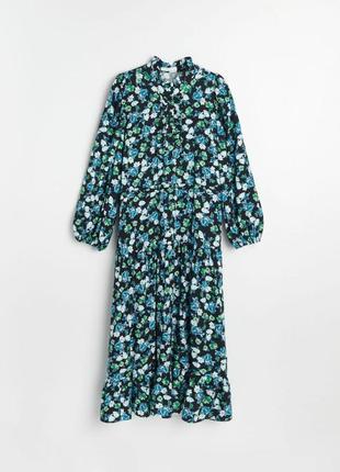 Платье миди reserved свободного кроя в цветочки.