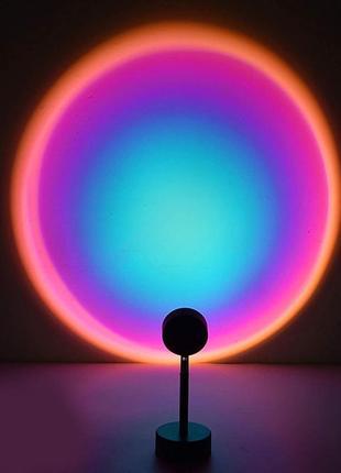 Проекционная лампа sunset lamp с эффектом заката / рассвета, желтый закат, радуга хит тик-ток