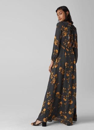 Красивое платье в пол whistles рюшки открытая спина размер м