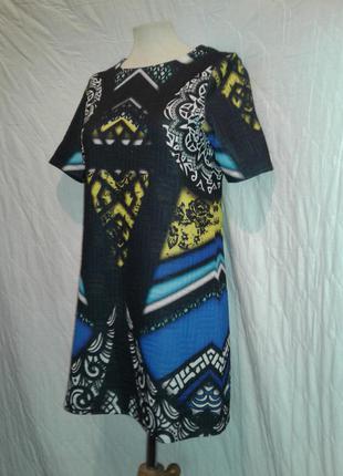 Платье из 2ной, фактурной ткани, м